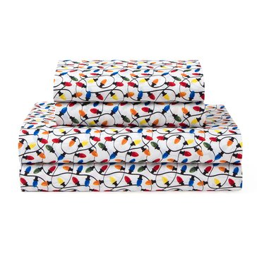 Elite Home Microfiber Print Sheet Set