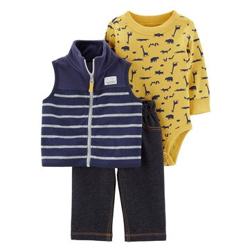 Carter's Baby Boys' 3-Piece Dino Fleece Vest Set