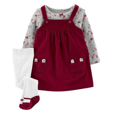 Carter's Baby Girls' 3-Piece Corduroy Jumper Set