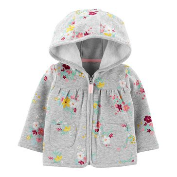 Carter's Baby Girls' Floral Fleece Cardigan