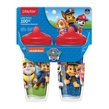 Playtex Sipsters Stage 3 Paw Patrol 9 oz Sippy Cup With Spout, 2 pack