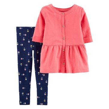 Carter's Baby Girls' 2-Piece Top Pant Set