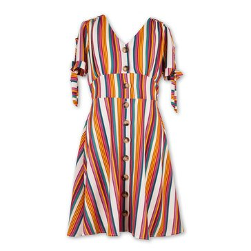 Speechless Big Girls' Striped Button Up Dress