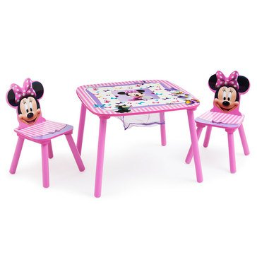 Disney Minnie Mouse Kids Table Chair Set 2 Chairs Included by Delta Children