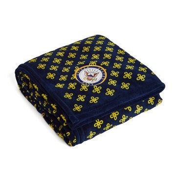 Vera Bradley Navy Logo XL Throw Blanket