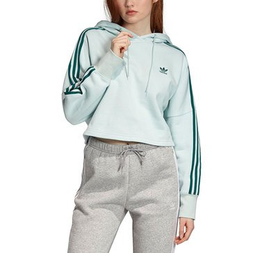 adidas Women's Original 3-Stripes Cropped Hoodie