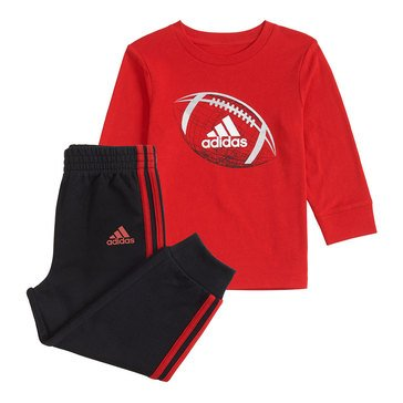 Adidas Baby Boys' 2-Piece Logo Tee and Jogger Set