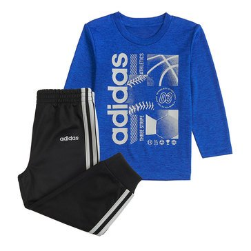 Adidas Baby Boys' 2-Piece Melange Tee and Jogger Set