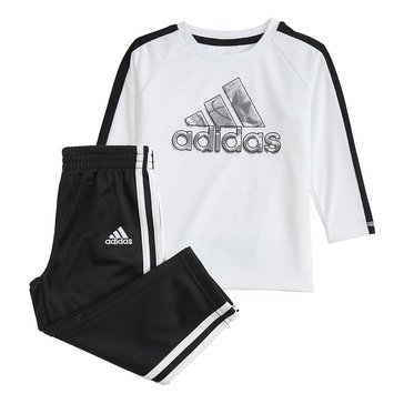 Adidas Baby Boys' 2-Piece Logo Sport Top and Pant Set
