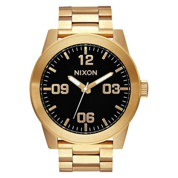 Nixon Men's Corporal SS Superior Style All Gold / Black Watch, 48mm