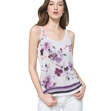 White House Black Market Women's Floral Printed Convertible Woven Cami
