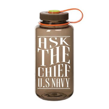 Nalgene USN Ask the Chief USN Wide Mouth Water Bottle 32 Oz