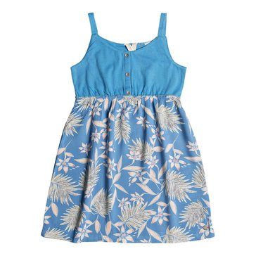 Roxy Little Girls' Sea Songs Knit to Woven Dress