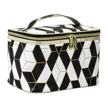Modella Black and White Geo Train Case