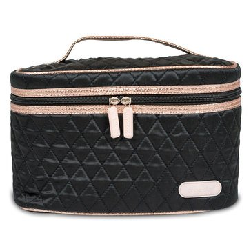 Caboodle Soft Train Case Black with Rose Gold