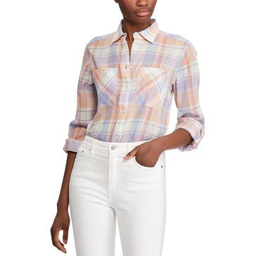 Lauren Ralph Lauren Women's Plaid Guaze Shirt