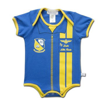 Third Street Infant USN Blue Angels Flight Suit Romper