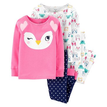 Carter's Little Girls' Owl Print Pant Set