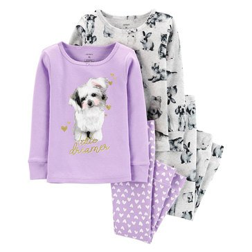 Carter's Little Girls' Puppy Print Set