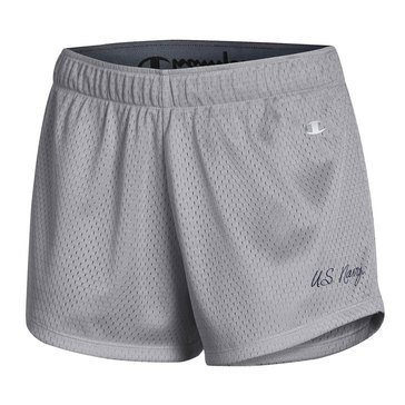Champion Womens US Navy Scripted Mesh Short