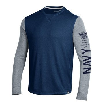 Under Armour Men's USN Honor Waffle Crew