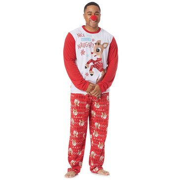 Briefly Stated Men's Rudolph Family Pjs