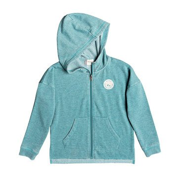 Roxy Big Girls' In the Moment A Fleece Zip Hoodie