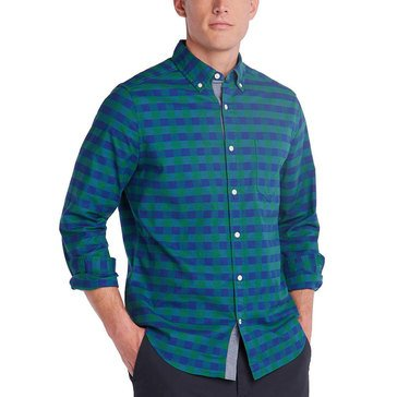 Nautica Men's Stretch Oxford Buffalo Check Sport Shirt