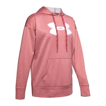 Under Armour Women's Synthetic Fleece Chenille Logo Pullover Hoodie