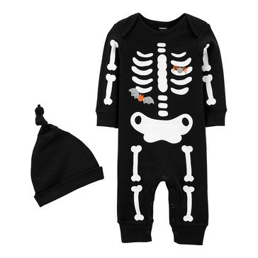Carter's Baby 2-Piece Skeleton Halloween Jumpsuit