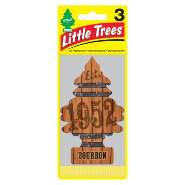 Little Trees Bourbon Scent 3-Pack Air Freshener