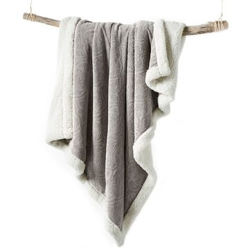 Martha Stewart Collection Solid Reversible Sherpa Throw