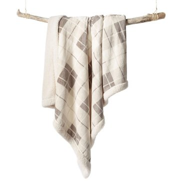 Martha Stewart Collection Plaid Reversible Sherpa Throw