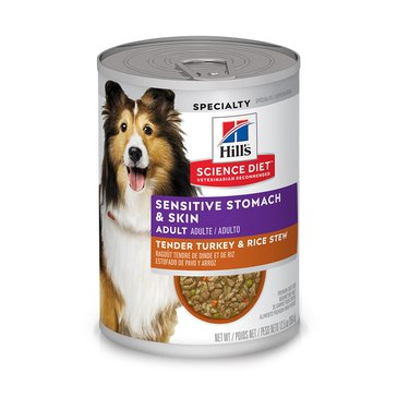 Science Diet Adult Sensitive Stomach & Skin Turkey & Rice Stew 12.5oz