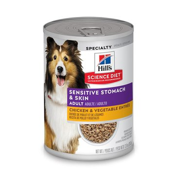 Hill's Science Diet Sensitive Stomach & Skin Chicken & Vegetable Adult Wet Dog Food