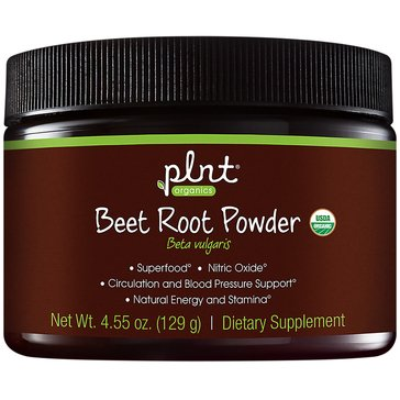 Plnt Organic Beet Root Powder with Nitric Oxide 30 Servings