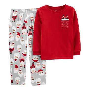 Carter's Little Boy's 2-Piece Santa Pocket Sleepwear