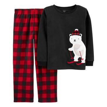 Carter's Little Boy's 2-Piece Skiing Polar Bear Sleepwear
