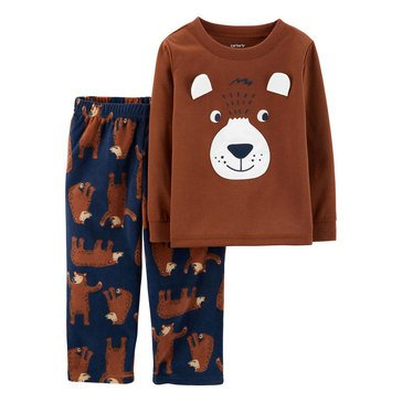 Carter's Toddler Boy's 2-Piece Bear Face Sleepwear