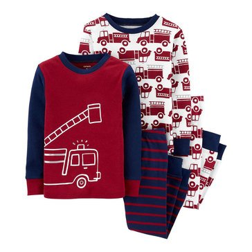 Carter's Toddler Boy's 4-Piece Firetruck Sleepwear