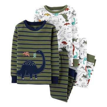 Carter's Toddler Boy's 4-Piece Dino Sleepwear