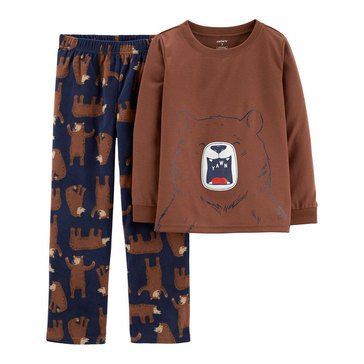 Carter's Little Boy's 2-Piece Bear Face Sleepwear
