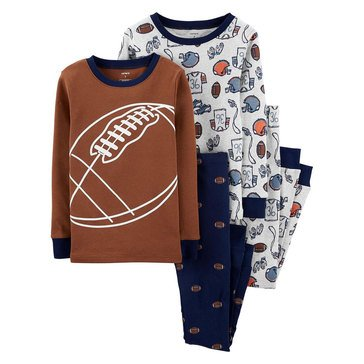 Carter's Little Boy's 4-Piece Football Sleepwear