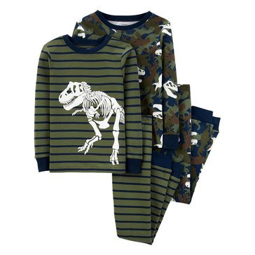 Carter's Little Boy's 4-Piece Dino Sleepwear