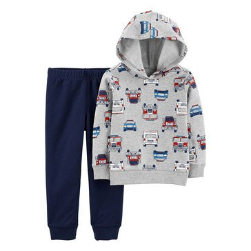 Carter's Toddler Boys' Firetruck Print French Terry Set