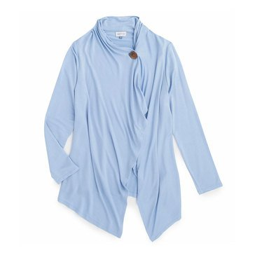 Yarn & Sea Women's 1 Button French Terry Cardie