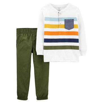 Carter's Toddler Boy's Stripe Henley Set