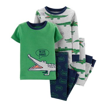 Carter's Toddler Boy's 4-Piece Gators Cotton Sleepwear