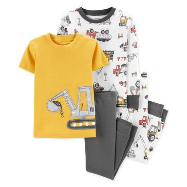 Carter's Toddler Boy's 4-Piece Construction Cotton Sleepwear