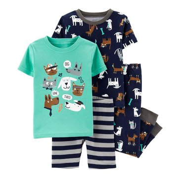 Carter's Toddler Boy's 4-Piece Pets Cotton Sleepwear